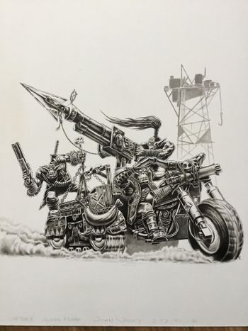 Ork Wartrack with 3 riders - Gorkar Morka.jpg