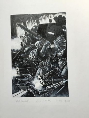 Space Marines - Commander with the squad and a Dreadnought.jpg
