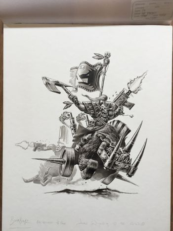 Ork Warboars and Boarboyz charging.jpg