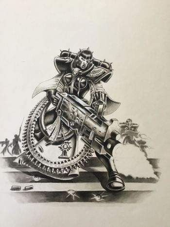Lady Inquisitor with heavy bolter.jpg
