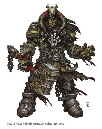 Grask Uldeth, the mighty orc chieftain of the Empty Hand tribe 2015.jpg