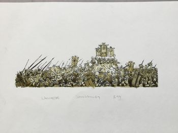Warmaster - Chaos army besieging Dwarves.jpg
