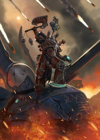 For The Blood God - Chaos Marine Vs Eldar Titan 2017.jpg