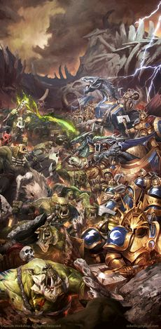 Age Of Sigmar Destruction Battletome - Bonesplitterz - Bonesplitterz Vs Dracothion Guard.jpg