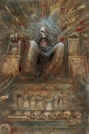The Emperor Sits Upon His Golden Throne-John Blanche-1987.jpg