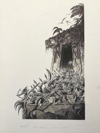 Lizardmen army defending their castle.jpg