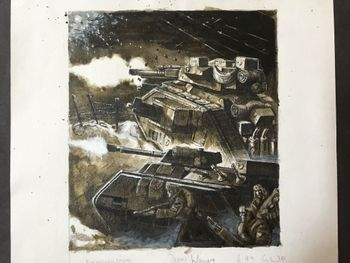 Imperial Guard Chimera and Leman Russ attacking.jpg